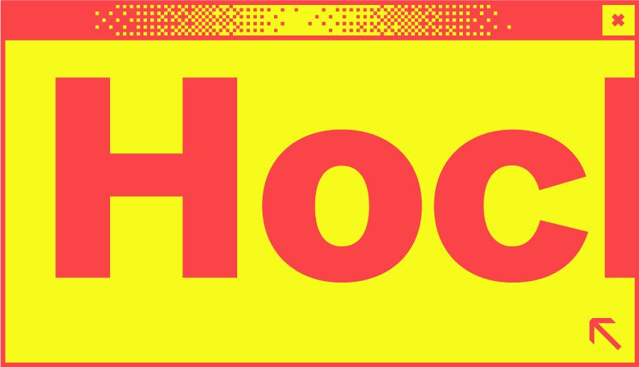 Weißes Browserfenster mit dem Wortabschnitt Hoc in der Mitte