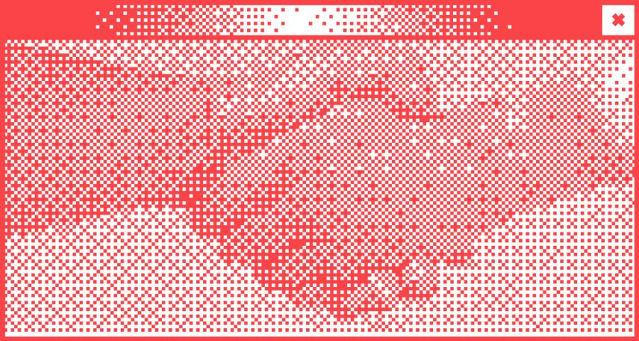 Transparentes gerastertes Hintergrundbild mit roten Spitze eines Berges