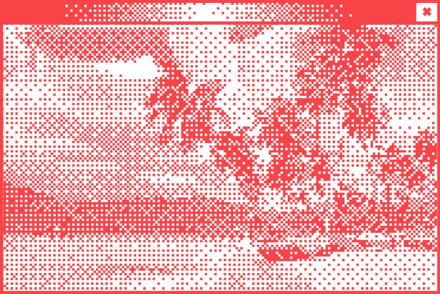 Weißes Browserfenster mit Pixelgrafik in der Mitte. Abbildung von verschiedenen Schmuckstücken
