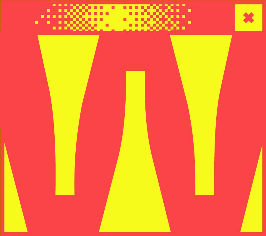 WeBildschirmfenster mit dem Buchstaben w in der Mitte